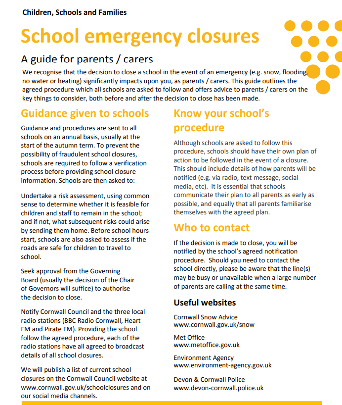 Parent Leaflet